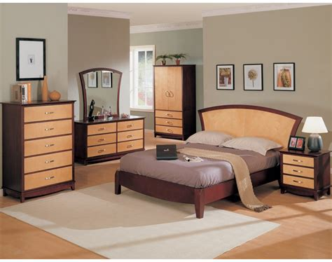 julie bedroom set maple dark cherry finish