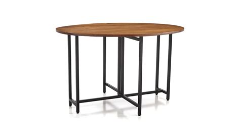 Origami Drop Leaf Dining Table Origami Drop Leaf Oval Dining Table Crate And Barrel