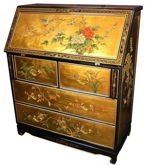 asian furniture furniture gold leaf desk view in
