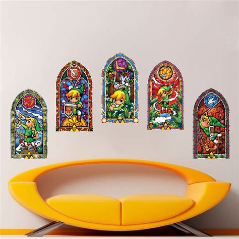 zelda wind maker stained glass wall mural decals video