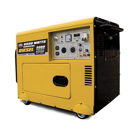 all power america silent diesel generator apg3202n 6500
