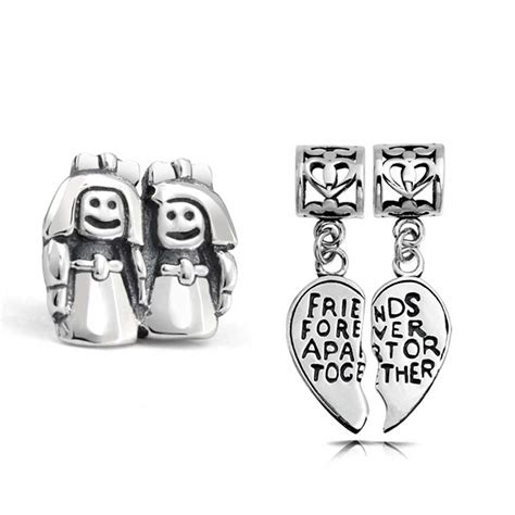 sterling best friends forever bead set fits