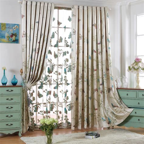 butterfly material for curtains girls butterfly curtains of polyester fabric with jacquard