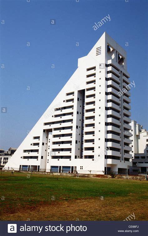 shaped buildings triangle shape building mumbai maharashtra india stock
