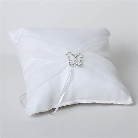 cuscini per le fedi cuscino bianco portafedi con farfalla prodotti per