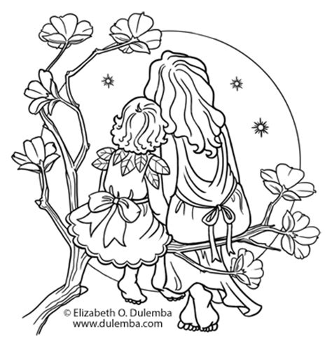 coloring pages mother and baby dulemba coloring page tuesday mother and child