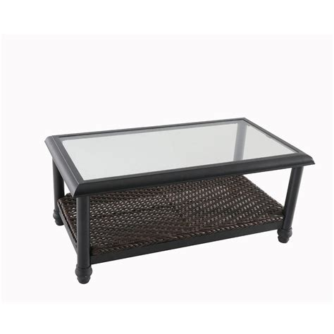 home depot coffee table home decorators collection camden brown wicker