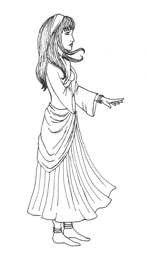 gypsy coloring pages sketch coloring page