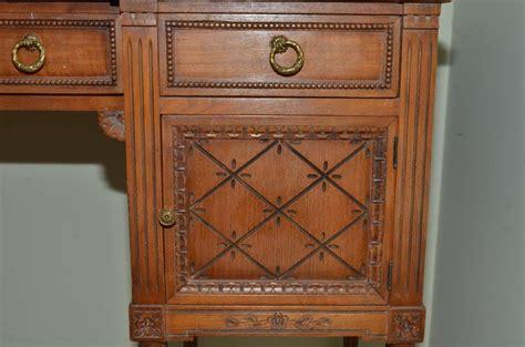 Antique Vanity Set For Sale by Antique Woodcraft Complete Vanity Set Incl Mirror