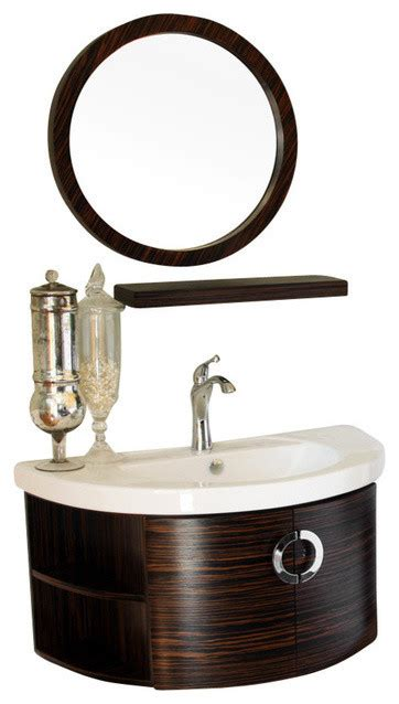 Zebra Wood Bathroom Vanity Bellaterra 34 Quot Single Vanity Wood Zebra Contemporary Bathroom Vanities And Sink
