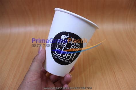 hot cup paper size dum dum thai gelas kertas  kopi