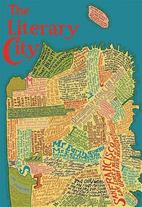 san francisco literary map prestidigitation the literary map of san francisco