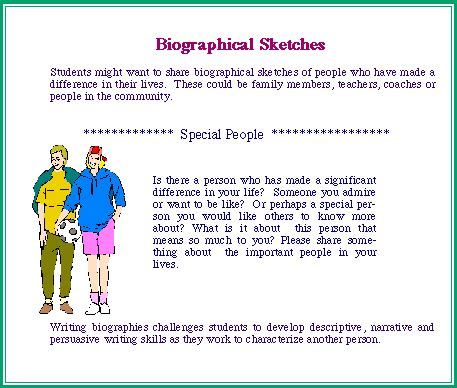 biography for middle school students mw elementary projects