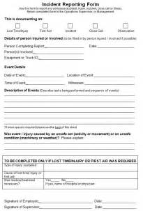 Post Incident Report Template by Best Photos Of Work Incident Report Form Workplace