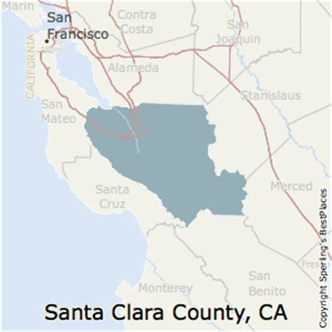 california map santa clara best places to live in santa clara county california