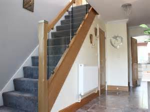 Glass Stair Banisters And Railings Toughened Glass Staircases Chrome Metal Iron Oak
