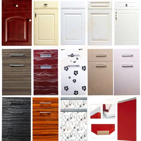 Factory Melamine Modular Wooden Pvc Laminate Kitchen Laminate Kitchen Cabinet Doors
