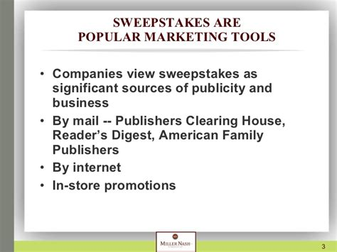 American Sweepstakes Publishers Complaints - presentation on sweepstakes and contests