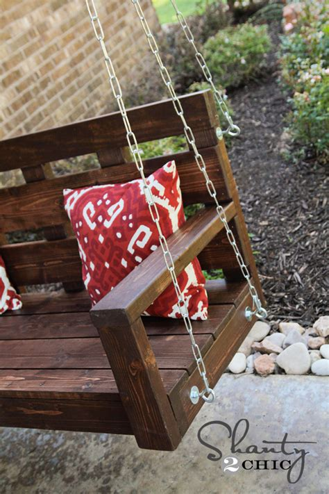 how to hang a bench swing from a tree porch swing diy shanty 2 chic