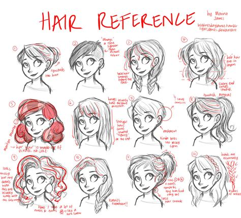 anime hairstyles female tutorial hair tutorial reference only by wednesdayjames on