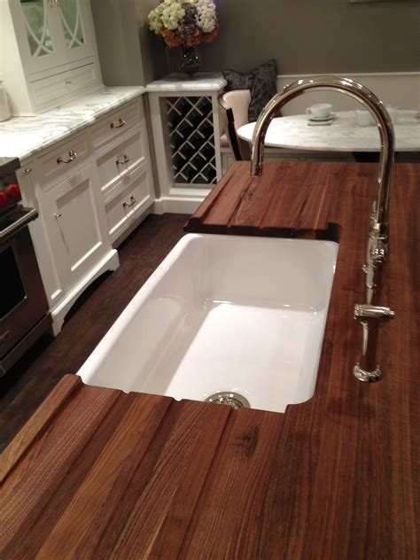 kitchen sink and counter undermount sink wood countertop butcherblock and bar