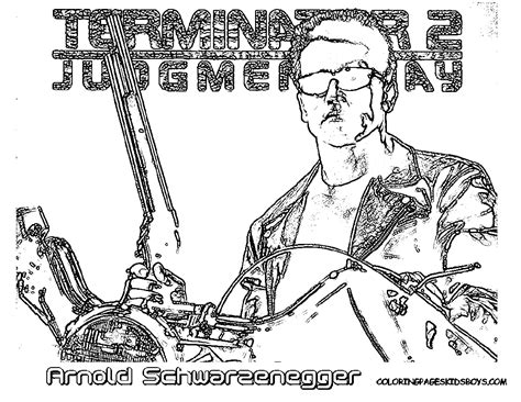 coloring pages terminator free coloring pages on masivy