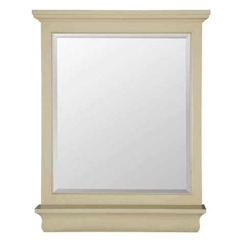 home decorators collection mirrors home decorators collection cottage 38 in l x 28 in w vanity wall mirror in antique white