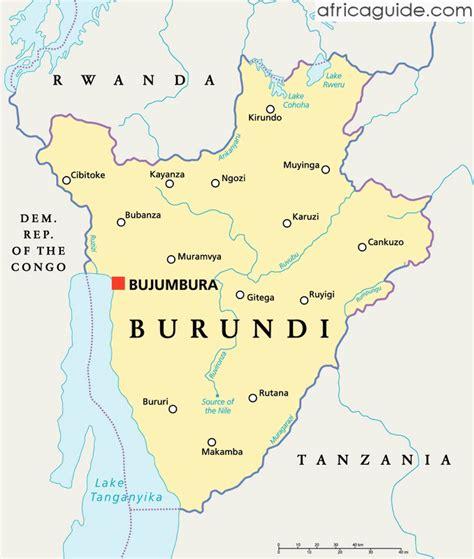 africa map burundi burundi kapital karte