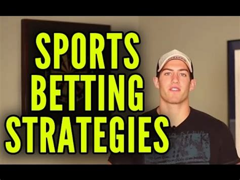 How To Win Money Betting On Sports - sports betting strategy 4 strategies to win more money youtube