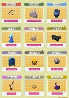 Leaf Harvest Horoscope Series minimalist series animal crossing new leaf acnl animal