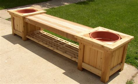 diy cedar bench 9 diy planter benches for your outdoor spaces shelterness