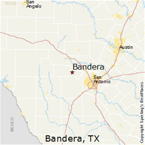 map bandera texas best places to live in bandera texas