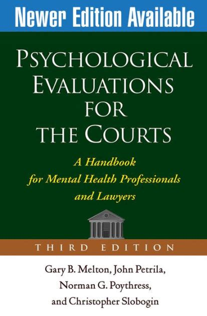 psychological evaluation psychological evaluations for the courts third edition a