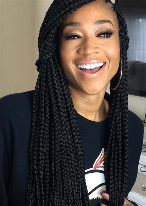 toya wright side braid style 35 awesome box braids hairstyles you simply must try box
