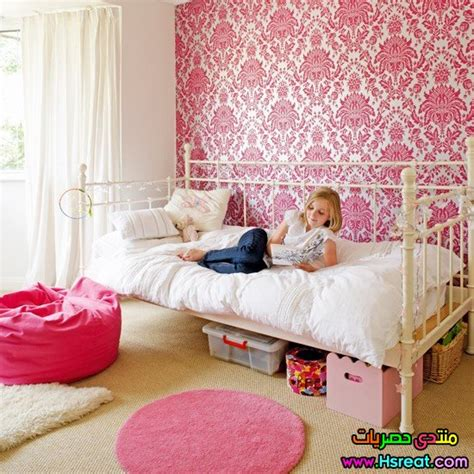 romantic pink kids bedroom wallpaper gilrs wallpapers أحدث موديلات ورق حائط غرف نوم 2016 باللون البينك بأفكار