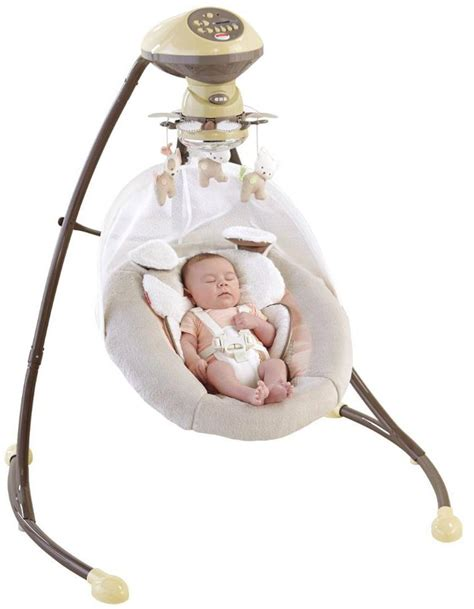 swinging a baby com fisher price my little snugapuppy cradle and