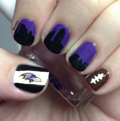Baltimore Ravens Nail Designs