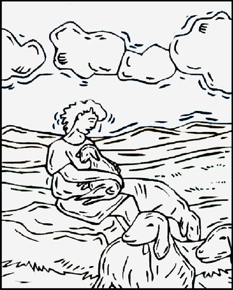 free david the shepherd boy coloring pages