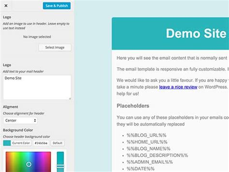 design email header how to add beautiful email templates in wordpress