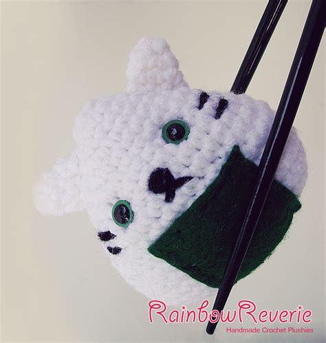 amigurumi onigiri pattern onigiri sushi cat amigurumi crochet plush by