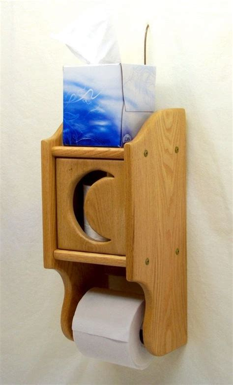 wooden toilet paper holder oak wood with by wooden toilet paper holder oak wood with tissue shelf