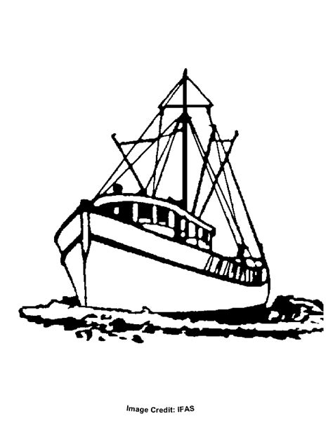 Coloring Pages Of Fishing Boats by Fishing Boat Free Coloring Pages For Printable