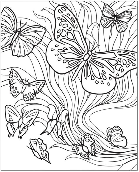butterflies coloring book for adults books welcome to dover publications creative beautiful
