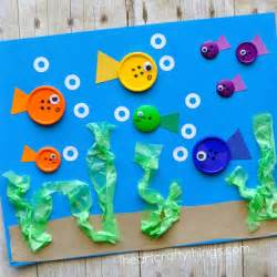 Sea Crafts For Kids - simple button fish craft for kids i heart crafty things