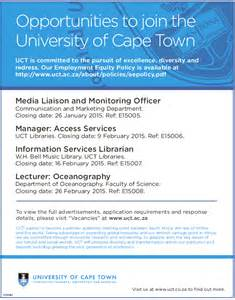 City Of Careers Of Cape Town Has 4 Vacancies 187 City Of Cape