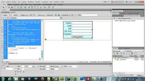 dreamweaver tutorial with php parte 1 sistema de comentarios adobe dreamweaver php