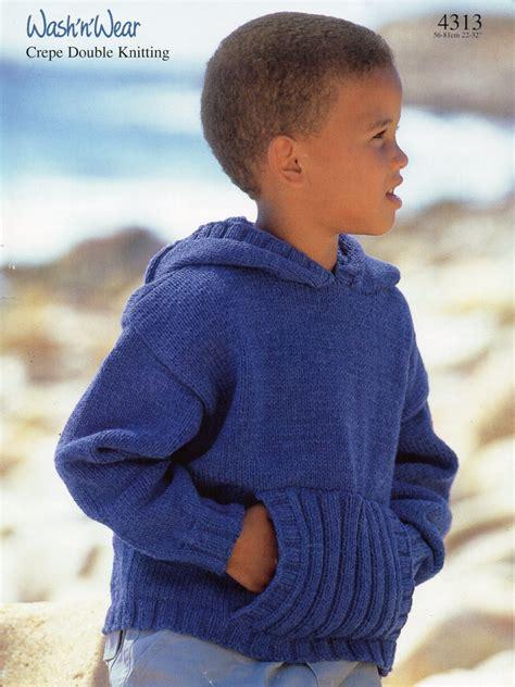 childs jumper knitting pattern childrens hooded sweater knitting pattern hooded jumper front