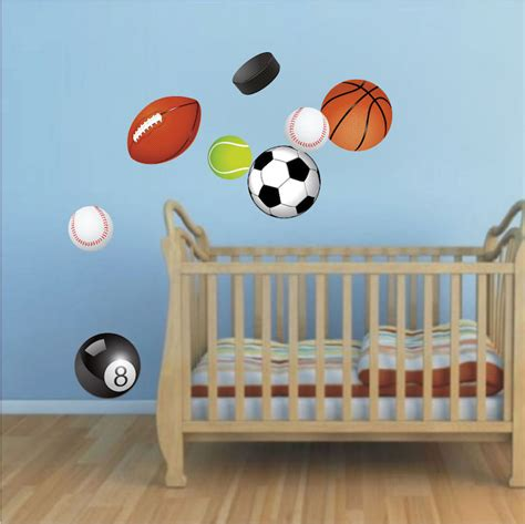sport wall stickers sports balls wall decal murals sports stickers primedecals