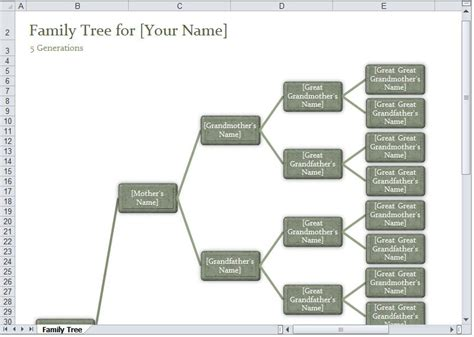 excel family tree template family tree template excel excel family tree template