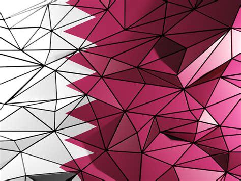 pattern design qatar triangle background illustration of flag of qatar